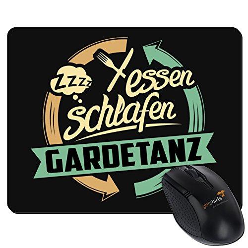Preisvergleich Produktbild getshirts - RAHMENLOS® Geschenke - Mousepad - Sport Gardetanz - schwarz uni