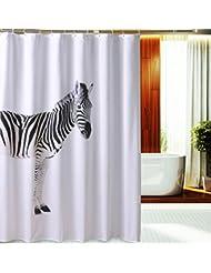 D G F Cortina de ducha de poliéster Baño de interior Impermeable Cortina de ducha de cebra anti-niebla Multi-tamaño Opcional ( Tamaño : 180*180cm )