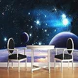 Wandgemälde Benutzerdefinierte Wandbild Tapeten Wohnkultur Wohnzimmer Schlafzimmer Universum Weltraum Sterne Planet Fotografie Hintergrund Fototapete,60Cm(H)×120Cm(W)