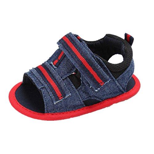 BZLine® Baby Girl Sommer Soft Sole Kleinkind Anti-Slip Schuhe Sandalen Rot