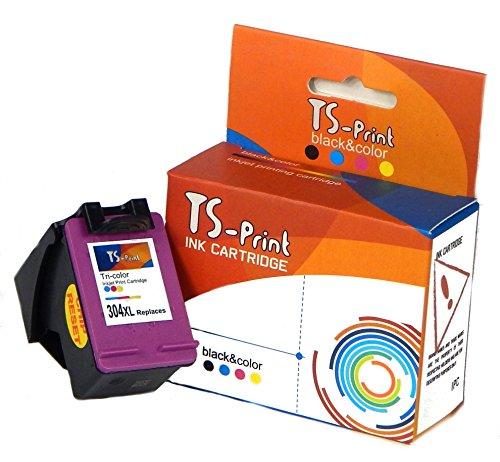 TS-Print Cartucho de Tinta Compatible con HP-304-XL Tri-Colores Tri-Color