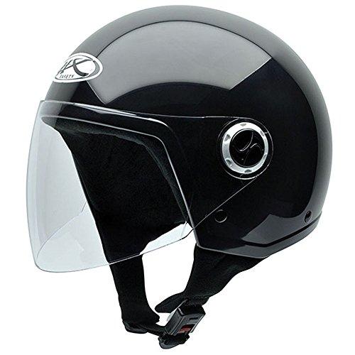 NZI 510003G000_M Homologado Shield Casco Moto, Nero, Taglia M