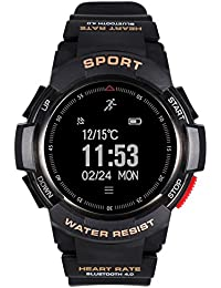 Homme Fitness Tracker de la fréquence Cardiaque Bluetooth Smart Watch étanche Militaire Chronomètre Sports Montre numérique
