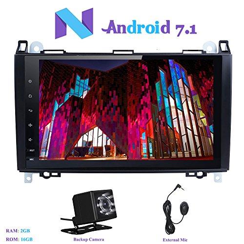 """Android 7.1 Autoradio, Hi-azul 1 Din Car Radio RAM 2G Navigation GPS Récepteur de Radio de Voiture 9"""" Stéréo Voiture avec Écran Tactile pour Mercedes-Benz A-W169, B-W245, Viano, Sprinter, Vito (avec Caméra de Recul)"""