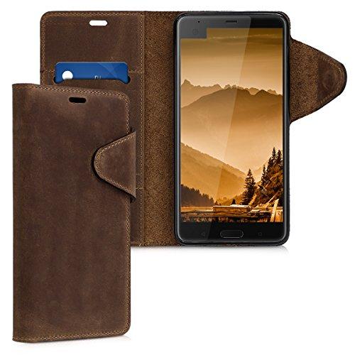 kalibri-Hlle-fr-HTC-U-Ultra-Echtleder-Wallet-Case-Schutzhlle-mit-Fach-und-Stnder-in-Braun