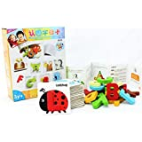AdicChai Alphabets Learning Flash Cards - Eco Friendly Wooden Toys