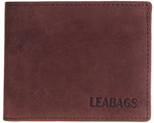 LEABAGS Springfield Geldbeutel aus echtem Büffel-Leder im Vintage Look