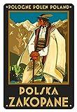 Pologne Polen Polonia - Polska Zakopane (Polaco, ciudad de Zakopane) - Tatras Mountaines, polaco Górale (montañero) - Póster vintage de viaje del mundo por Stefan Norblin c.1925 - Fine Art Print