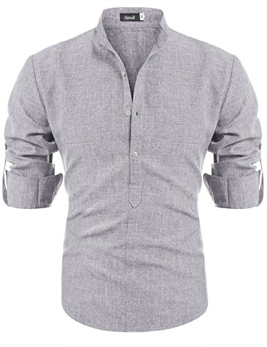 hasuit-mens-casual-slim-fit-linen-henley-lightweight-roll-up-sleeve-popover-s