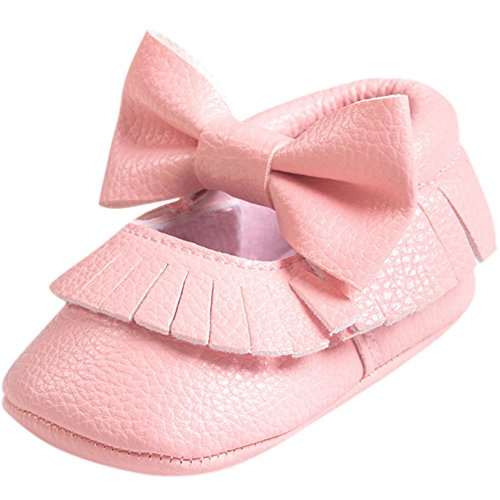 Fire Frog  Baby Mary Jane Shoes, Baby Mädchen Lauflernschuhe Rose