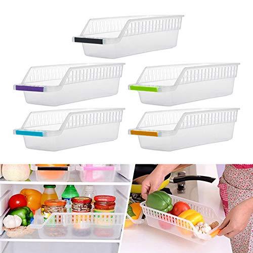JIJI886 bac de Rangement avec poignées - conteneur de Stockage d'Aliments - Rangement pour Fruits et Légumes- pour Conserver Les vivres dans la Cuisine, au réfrigérateur ou au congélateur 2 PC (A)