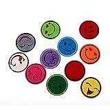 Flicken Aufbügelbilder Aufnäher Applikation Gemischter Smiley-Stickereiaufnäher 4.6cm-1 Set