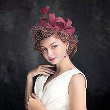 7a3f42615c6 Coiffure Bibi Voile Plume Voilette Fascinants Chapeaux de Mariage avec  Plumes et Pince à Cheveux