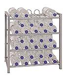 Flaschenständer für ca. 36 Flaschen á 1,5 Liter; Maße (B/T/H) in cm: 54 x 31 x 60