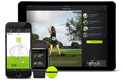Zepp Analyseur de swing de golf Noir