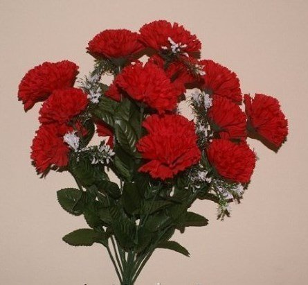 18-head-red-carnation-artificial-flower-bush-wedding-grave-vase-by-fsuk