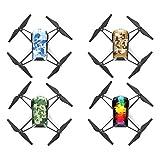Diadia PGY DJI Tello Drohne Skin 4 Stück Cool Wasserdichte PVC Aufkleber mit Folie Body Decals für DJI Telllo-Drohne, 3 Typen