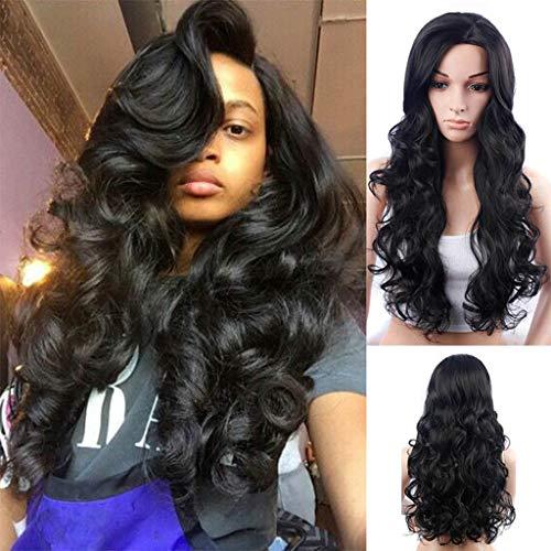 Perruque Synthétique Dégradé Sexy Perruques Longue Cheveux Bouclés Couleurs Mélangées Club Ondulée Femme Noire Lace Wig