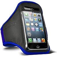 Fone-Case HTC One M7 verstellbaren Sport Fitness Jogging Arm Band Hülle (Blue)