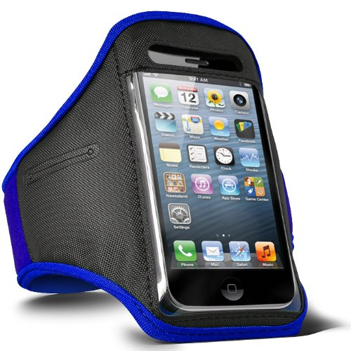 Fone-Case LG Optimus L3 E400 verstellbaren Sport Fitness Jogging Arm Band Case (Blau)