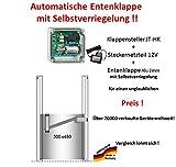 JOSTechnik Automatische Entenklappe JT-HK + Steckernetzteil + Klappe mit Selbstverriegelung - Direkt vom Hersteller !