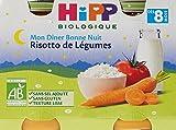 Hipp Biologique Mon Dîner Bonne Nuit Risotto de Légumes dès 8 mois - 12 pots de 190 g