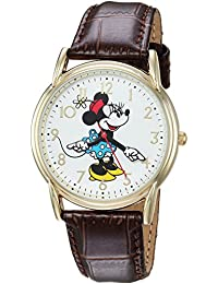 Disney Women's 'Minnie Mouse' Quartz Metal Casual Watch, Color:Brown (Model: WDS000411)