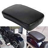 Ventouse Coussins Moto, CICMOD Ventouse Siège Passager Coussin rectangulaire pour Harley Custom Chopper-Noir