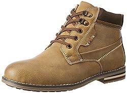 San Frissco Mens Tan Boots - 8 UK/India (42 EU)(V-5005)