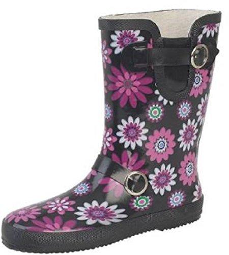 Lora Dora Womens Mid Calf Wellington Boots Short Wellies Ladies Floral Snow Boots Size UK 3-8