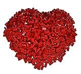 Simba 104118922 - Blox 500 rote 8er Bausteine
