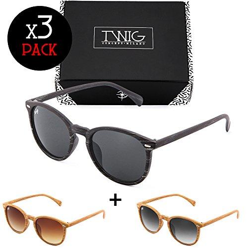 TWIG Concept Milano Tris occhiali da sole TWIG Pack WAY a specchio uomo/donna (Trendy) IVwTg3T
