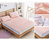 ZMLI Simmons Mattress Cover Waterproof Bed 笠 Single Bed Cover Bed Set Jade