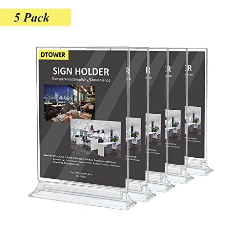 Espositore da tavolo a4, espositore da banco, verticale e bifacciale presentazione per pubblicità, poster, menu, foto, negozi, 21×29.7cm-5 pezzi