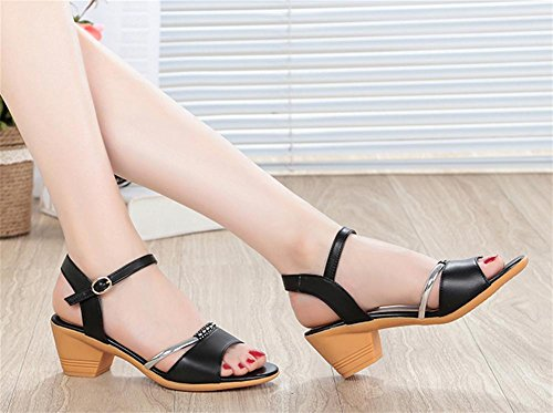 pengweiSandalen Damen Sommer Sehnen an der Unterseite der rau mit High Heels 2
