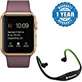 Drumstone Smart Watch GT08 Phone With Camera And Sim Card & SD Card Support With BS19 Wireless Bluetooth On-ear Sports Headset Headphones (with Micro Sd Card Slot And FM Radio) Works With All Android Or Iphone Devices (1 Year Warranty, Color May Vary)