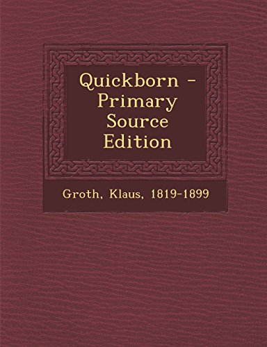 Quickborn - Primary Source Edition