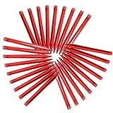 Yahee 30 Stück Heringe Zelthering Zeltnägel Zeltpflöcke 30 x 3,5 x 2 cm aus Kunststoff Rot