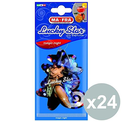 mafra-set-24-deodorante-in-cellulosa-lucky-star-magic-night-auto-pulizia-lavaggio
