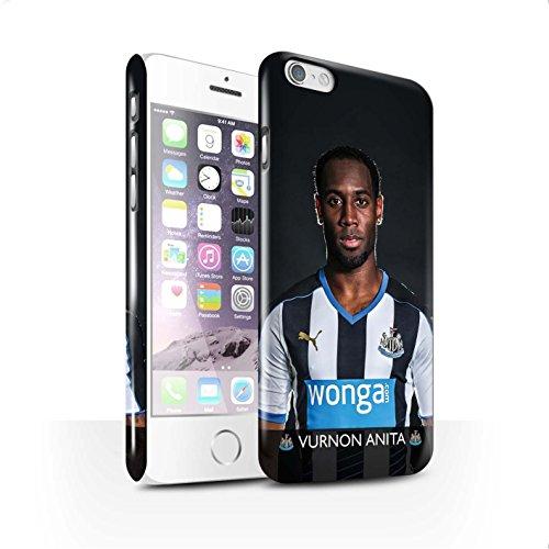 Officiel Newcastle United FC Coque / Clipser Brillant Etui pour Apple iPhone 6S / Anita Design / NUFC Joueur Football 15/16 Collection Anita