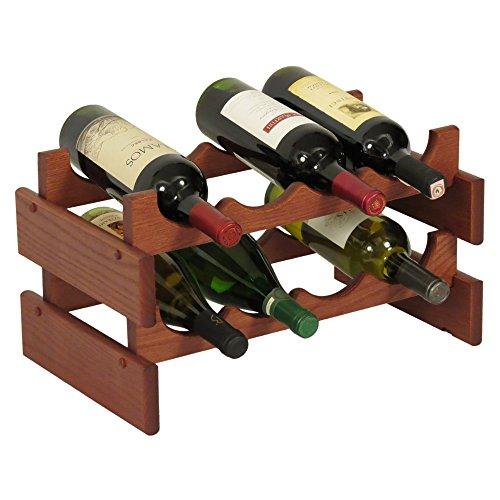 Wooden Mallet Dakota Weinregal, Holz, für 21 Flaschen 8 Flaschen Mahagoni -