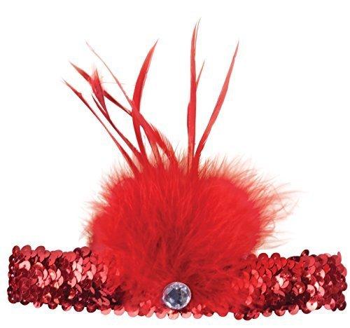 Pailletten Flapper Stirnband (Damen 1920s Pailletten Flapper Feder Haarband Stirnband Kostüm Kleid Outfit Zubehör -)