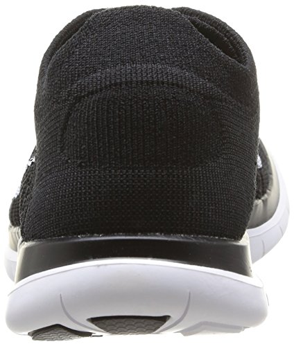 Nike Free 4.0 Flyknit, Chaussures de course homme Black/White/Dark Grey