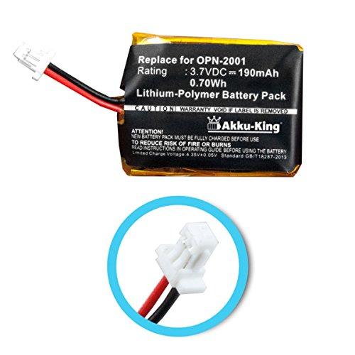 Akku-King Akku kompatibel mit Opticon OPN-2001 Pocket Memory Scanner - Li-Polymer 190mAh