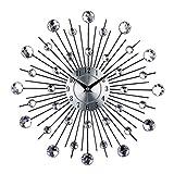 Sharplace DIY Wanduhr 3D Luxus Diamant Design Wohnzimmer Wandschmuck Groß Uhr Uhrwerk - # 1