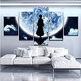TKKXQT Stampe e Quadri su Tela 5 Pezzi Bleach Moon Anime Poster Poster Owall Art Home Decorations No Frame Size B