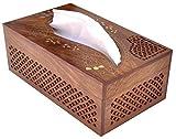 Rectangular Wood Boutique Tissue Box Cov...