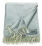Schöner Wohnen 70350-010-140-200 Plaid, 50 Prozent Polyacryl, 50 Prozent Baumwolle, Natur, 200 x 140 cm