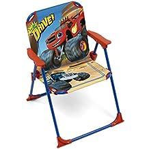 Arditex Chaise Pliante Pour Enfant Sous Licence Blaze Et Les Monster Machines En Mtal Tissu