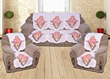 Yellow Weaves™ 6 Piece Baby Pink Sofa & Chair Cover Set